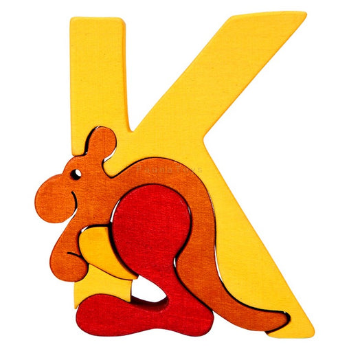 Fauna K for Kangaroo Letter Puzzle