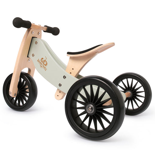Artiwood Tiny Tot PLUS Silver Sage 2-in-1 Balance Bike and Trike