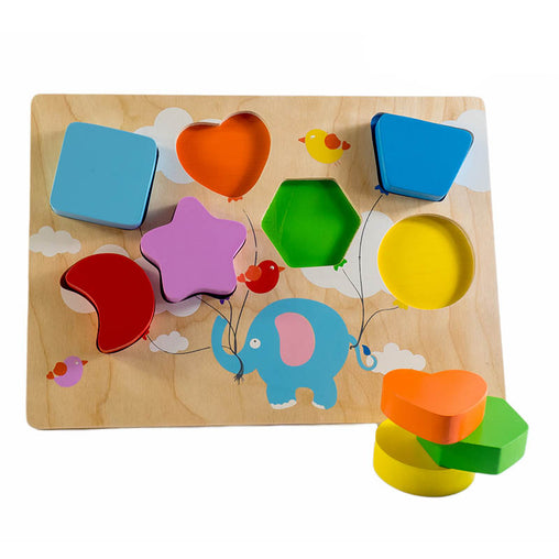 Kiddie Connect Wooden Chunky Balloon Shape Puzzle