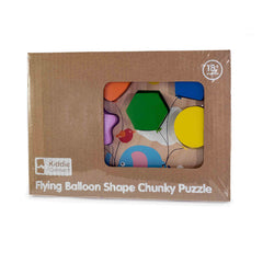 Kiddie Connect Wooden Chunky Balloon Shape Puzzle Packaging