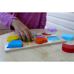 Kiddie Connect Wooden Chunky Balloon Shape Puzzle with Child