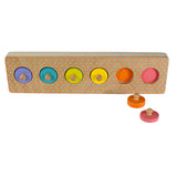 Colour Timber Cylinder Knob Puzzle