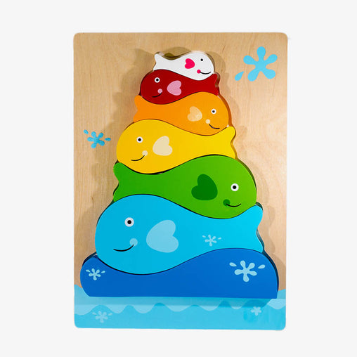 Kiddie Connect Wooden Fish Stacker Puzzle