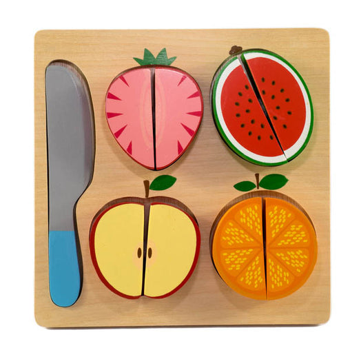 Kiddie Connect Wooden Slice the Fruit Puzzle