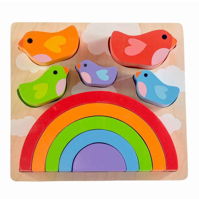 Kiddie Connect Wooden Bird and Rainbow Puzzle