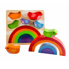 Kiddie Connect Wooden Bird and Rainbow Puzzle 2