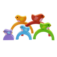 Kiddie Connect Wooden Bird and Rainbow Puzzle 3