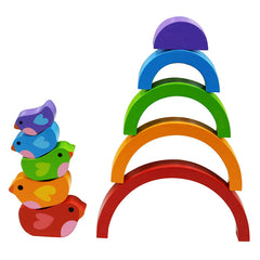 Kiddie Connect Wooden Bird and Rainbow Puzzle 4