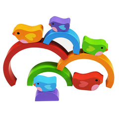 Kiddie Connect Wooden Bird and Rainbow Puzzle 5