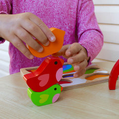Kiddie Connect Wooden Bird and Rainbow Puzzle 6