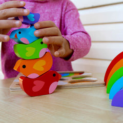 Kiddie Connect Wooden Bird and Rainbow Puzzle7