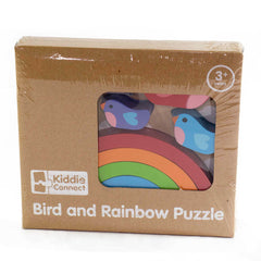 Kiddie Connect Wooden Bird and Rainbow Puzzle Packaging