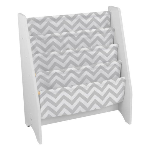 KidKraft White Sling Bookshelf - Grey Pattern