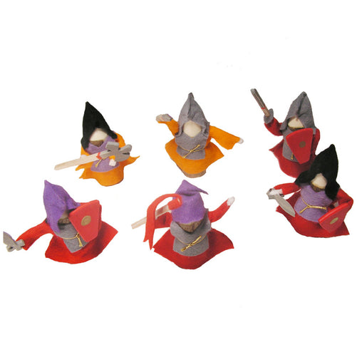 Magic Wood Knights Set of 6 Red