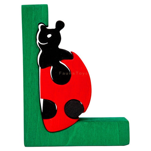 Fauna L for Ladybird Letter Puzzle