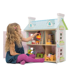 Le Toy Van Doll House Mayberry Manor Girl Playing