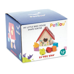 Le Toy Van Petilou My Little Bird House Shape Sorter Packaging