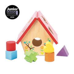 Le Toy Van Petilou My Little Bird House Shape Sorter Front