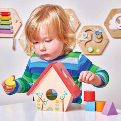 Le Toy Van Petilou My Little Bird House Shape Sorter CHild
