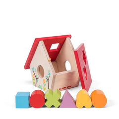 Le Toy Van Petilou My Little Bird House Shape Sorter Lid off