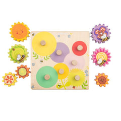 Le Toy Van Petilou Wooden Gears and Cogs Learning Puzzle Pieces