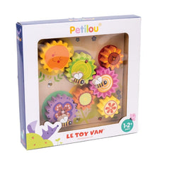 Le Toy Van Petilou Wooden Gears and Cogs Learning Puzzle Packaging