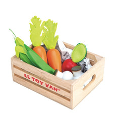 Le Toy Van Honeybake Market Play Food Harvest Vegetable Crate 2