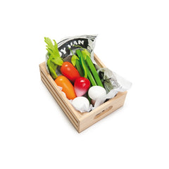 Le Toy Van Honeybake Market Play Food Harvest Vegetable Crate 3