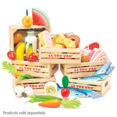 Le Toy Van Honeybake Market Play Food Harvest Vegetable Crate 4