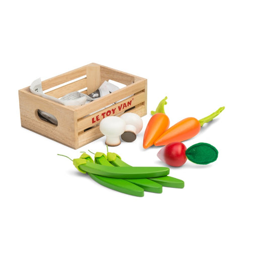 Le Toy Van Honeybake Market Play Food Harvest Vegetable Crate
