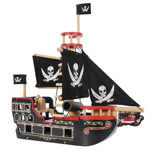 Le Toy Van Wooden Pirate Ship Barbarossa