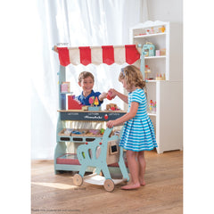 Le Toy Van Honeybake Shopping Trolley Cart Market Stall