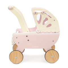 Le Toy Van Wooden Sweet Dreams Pram with Retractable Canopy