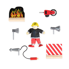 Le Toy Van Fire Engine Set Accessories Tool Fire Fireman