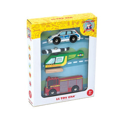 Le Toy Van Emergency Vehicles Car Set Packaging