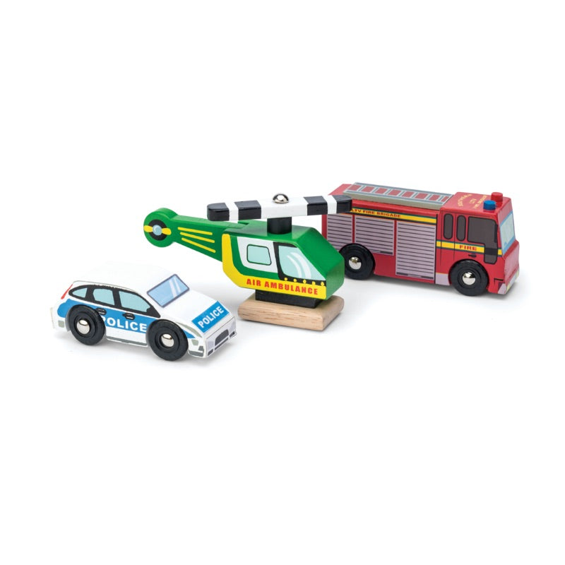 Le Toy Van Emergency Vehicles Car Set