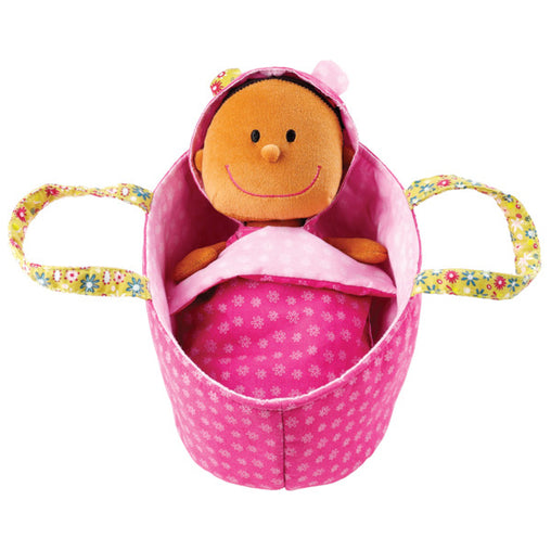 Lilliputiens Baby Zoe Soft Cradle Doll