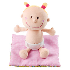 Lilliputiens Baby Chloe Soft Cradle Doll on Mat