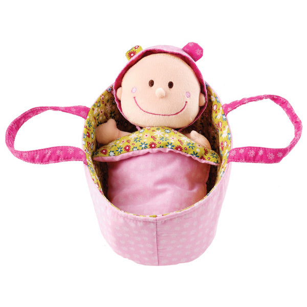 Lilliputiens Baby Chloe Soft Cradle Doll