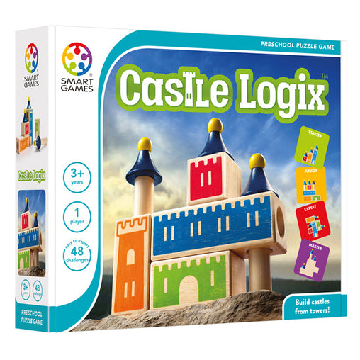 Smart Games Castle Logix Single Player Multi Level Logic Puzzle Challenge Packaging