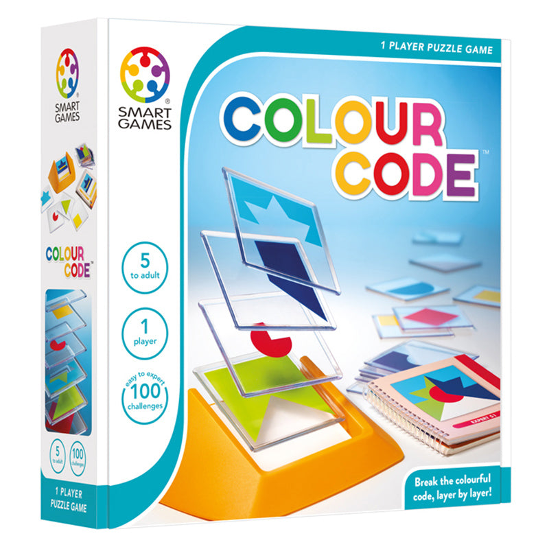 Smart Games Colour Code Single Player Multi Level Logic Puzzle Challenge Packaging
