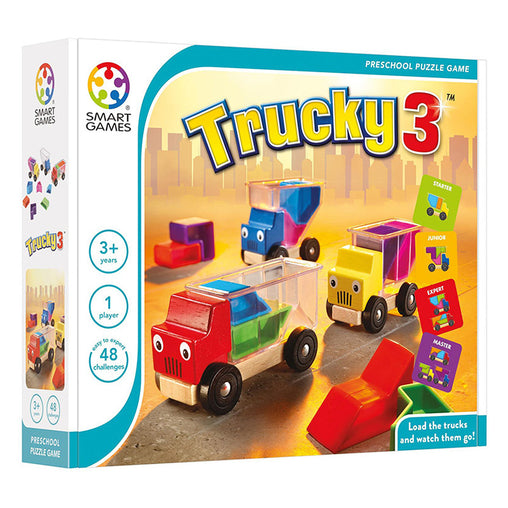 Smart Games Trucky 3 Single Player Multi level Logic Puzzle Challenge Packaging