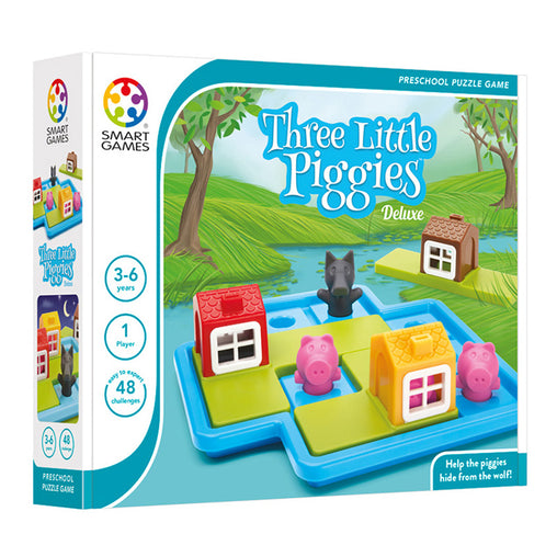 Smart Games Three Little Piggies Single Player Multi Level Logic Puzzle Challenge Packaging