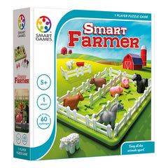 Smart Games Smart Farmer Single Player Multi Level Logic Puzzle Challenge Packaging
