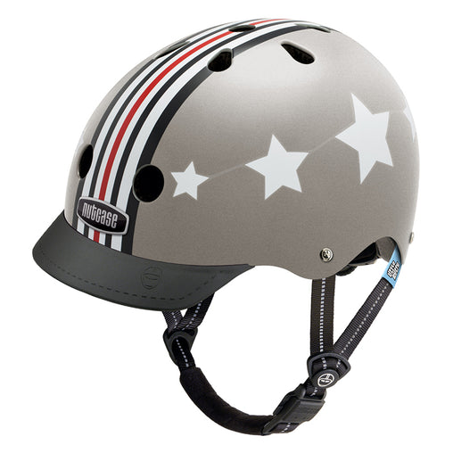 Nutcase Helmets Little Nutty Silver Fly Helmet
