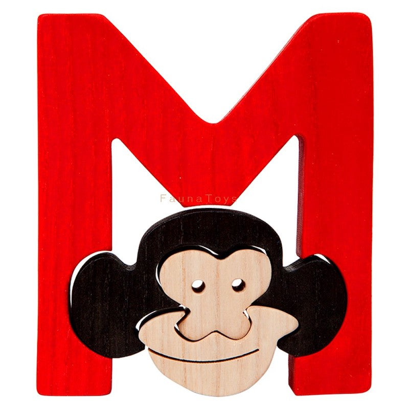 Fauna M for Monkey Letter Puzzle