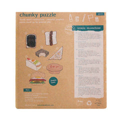 Make Me Iconic Australian Munchies Wooden Chunky Puzzle Back