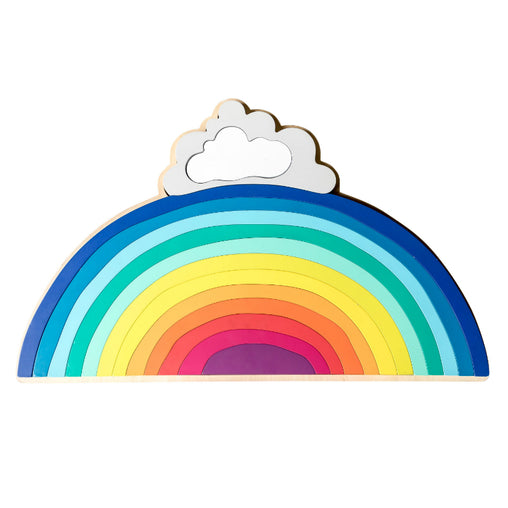 Make Me Iconic Large Rainbow Wooden Stacker