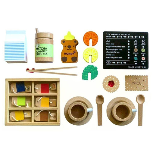 Make Me Iconic Australian Wooden Tea Set Extension Kit Contents