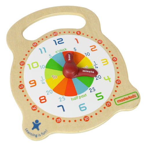Masterkidz Wooden Teaching Clock Front